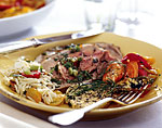 roast leg of lamb with salsa verde picture