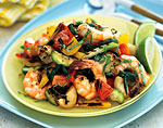 grilled gazpacho salad with shrimp picture