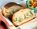 chicken salad sandwiches with blue cheese picture