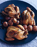 grilled poussins with lemon herb butter picture