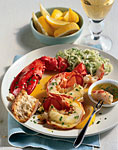 steamed lobster with lemon-herb butter picture