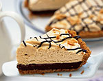 black-bottom peanut butter mousse pie picture