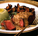 beef tenderloin steaks with mustard-cognac sauce picture