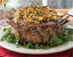 crown roast of pork with corn bread-poblano stuffing picture