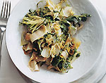 quick sauteed endive, escarole, and frisee picture