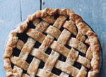 pear-cranberry mincemeat lattice pie picture