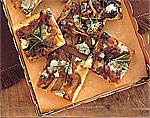 blue cheese and caramelized-onion squares picture