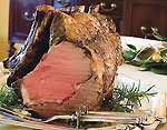 rosemary-and-pepper standing rib roast with two-mushroom pan sauce picture