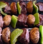 Beef, Pepper & Mushroom Kabobs picture