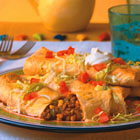 beef and bean chimichangas picture