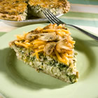 belle and chron s spinach and mushroom quiche picture