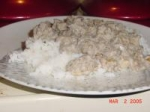 Beef Stroganoff over Rice picture