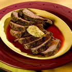 Bloody Mary Steaks with Green Olive Butter picture
