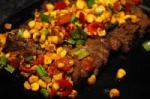 Sliced Steak with Roasted-corn Salsa picture