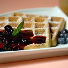 blueberry waffles with fast blueberry sauce picture