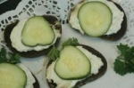 Cucumber Open Faced Sandwiches picture