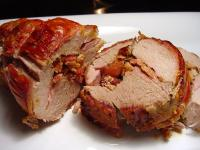 grilled pork loin with bacon picture