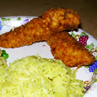 breaded chicken fingers picture