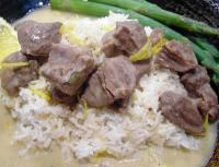 Stewed Veal in a Cream and Lemon Sauce picture