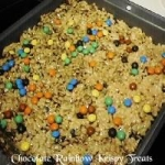 Chocolate Rainbow Krispy Treats picture