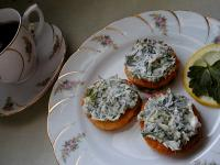 Canapes with Green Spread picture