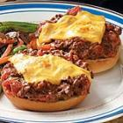 broiled pizza burgers picture