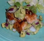 Pan Grilled Chicken with Avocado and Red Onion Salsa picture