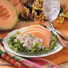 cantaloupe chicken salad picture