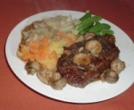 Pan Fried Steak with Mustard-Pepper Sauce picture