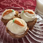 Carrot Cupcakes with White Chocolate Cream Cheese Icing picture