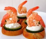 Marinated Shrimp Canapes picture