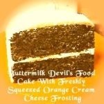 Buttermilk Devil's Food Cake With Freshly Squeezed Orange Cream Cheese Frosting picture