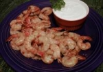 Chipotle-Barbecued Shrimp with Goat Cheese Cream picture